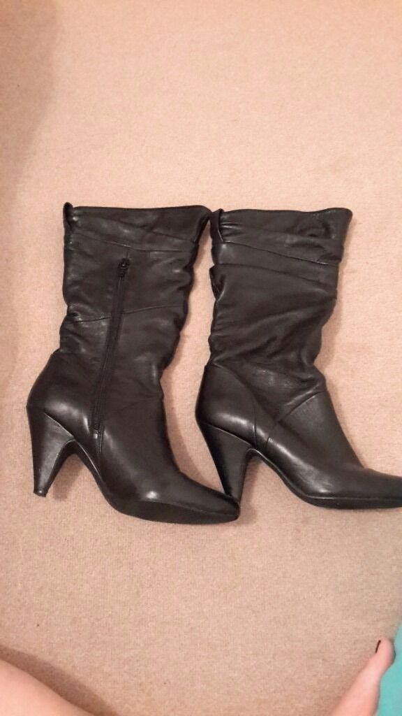 Dune leather boots. Size 6