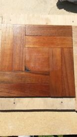 Used Parquet flooring blocks