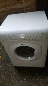 """""""AS NEW""""HOTPOINT WASHER DRYER MACHINE WDPG864 / serviced ready to go.£79.99 Offers Inv"""