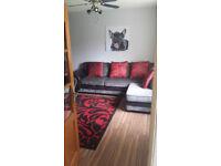 corner sofa fabric & leather