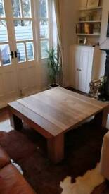 Solid timber coffee table lombok raft style