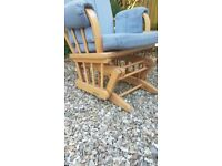 High Quality Blue rocking Nursing Chair - Ideal for nursery on a budget - £250 NEW
