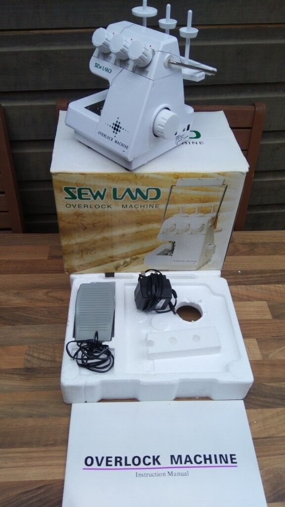 Sew Land Overlock Machine Like New In Box With Manual And