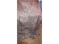 Wall mountable metal towel rail