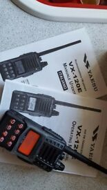 FM Mono Band Hand Held Transceiver Yaesu VX-120 E, boxed with instructions