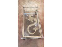Gold & Smoked Glass Coffee Table (£15 o.n.o)