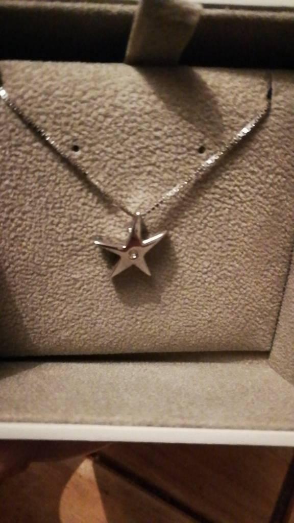 Hot diamond star necklace