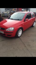 Corsa red top with twins 45 may swap