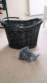 Black Wicker Bike Basket - Unused