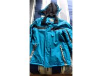 "Men's Ski Jacket: ""Parallel"" Sky Blue Medium size (38-40 chest)"