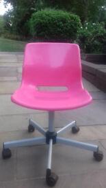 Pink swivel desk chair