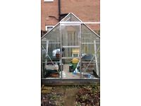 Green House 6x8ft with two potting tables
