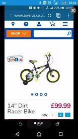 """Kid 14"""" bike"""