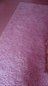 Baby pink rug.
