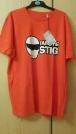 Brand New with tags Top Gear Stig Orange T Shirt 3XL