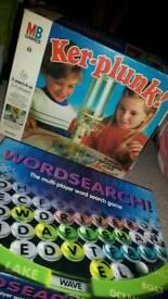 Games: Kerplunk & Wordsearch