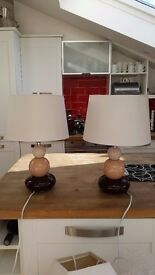 Matching pebble effect lamps