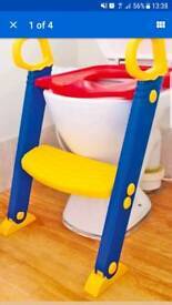 Child's step and toilet seat