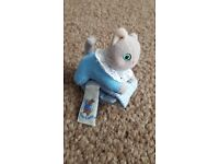 Tom Kitten Beatrix Potter Peter Rabbit wrist / foot rattle