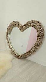Beautiful Ornate Floral Frame Heart Shaped Mirror -110cm x 95cm BRAND NEW | FREE UK DELIVERY