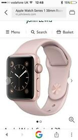 Apple Watch rose gold pink sand 38mm