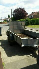 Ifor williams plant trailer with ramp