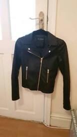 Miss Selfridge Black leather jacket - brilliant condition