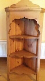 Quality-made Pine Hanging Corner Unit, excellent condition