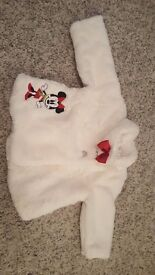 NEW Minnie Mouse faux fur size 12-18 months