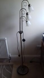 Tall, retro style, 3 light standard lamp