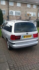 Seat alhambra (7 seater) Reg 58 with 10 months MOT. Quick sale £1750