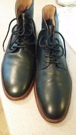 River Island Men's fine leather black boots size 45/12 hardly worn in excellent condition