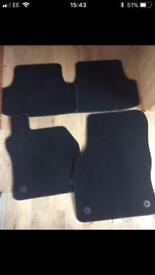 BLACK SEAT LEON CAR MATS