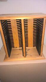 CD stand wooden, small desktop