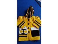 Kiddorable bumble bee rain coat 2-3 years
