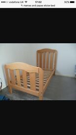 Mamas and Papas cot bed and Mattress