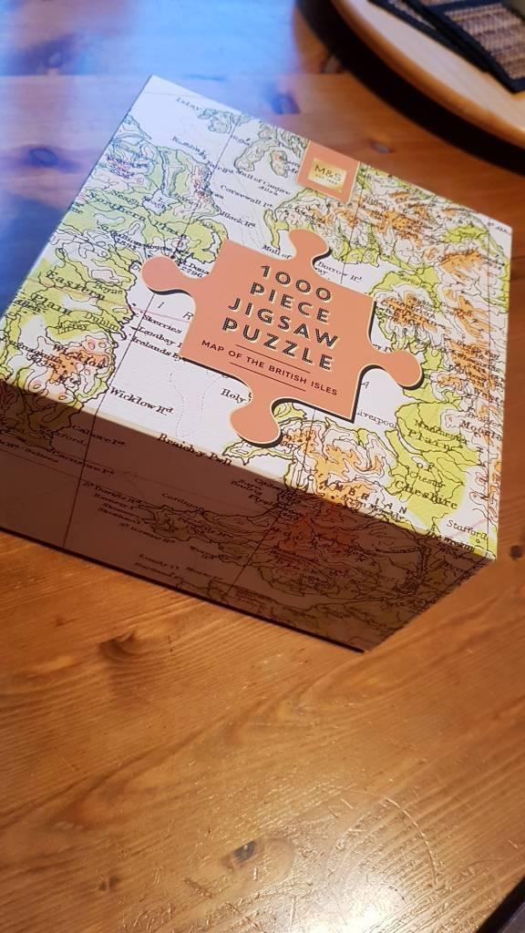 Ipswich Uk Map.1000 Piece Jigsaw Puzzle Of Uk Map In Ipswich Suffolk Gumtree