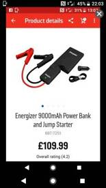Energizer car jump starter power bank for cars motorcycles jump pack