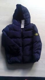 Brand new stone island jacket age 9/10