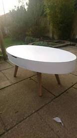 Oval two drawer coffee table