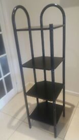 corner 4 tier shelf unit - used but in good condition