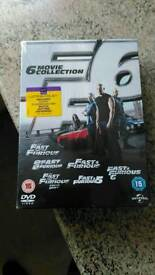 Fast and furious box set 1-6 new and sealed