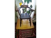 circa 1880's childs captains chair
