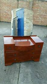 Dressing table/chest with mirror