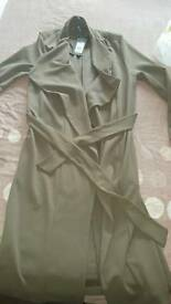 New Look khaki split waterfall coat bnwt SOLD OUT