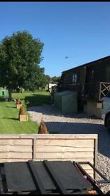 Log cabin for holiday let