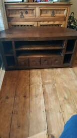 Tv unit solid mango wood