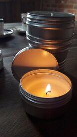 Handmade natural soya candles