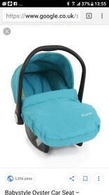 Oyster baby carseat