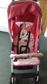 FREE Hauk minnie mouse pushchair